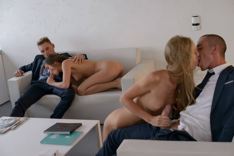 X-Art Caprice & Angelica in Awe Inspiring Orgy with Ben & Marecello 13