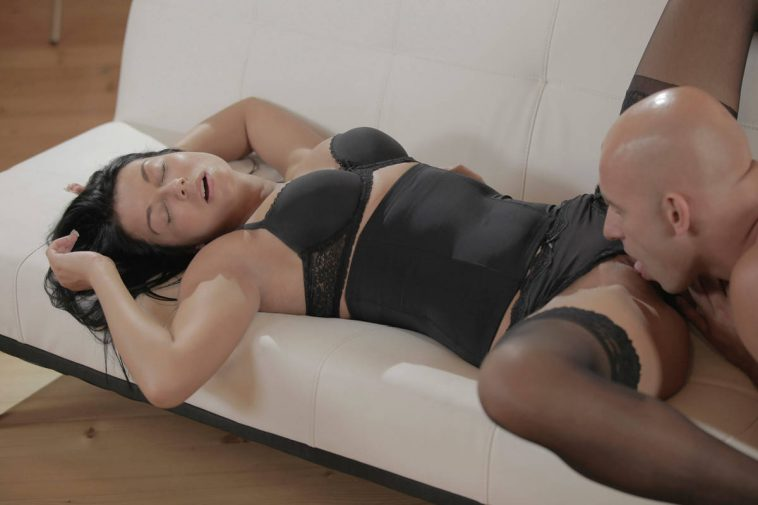 X-Art Gianna in Black Lace Bliss 10