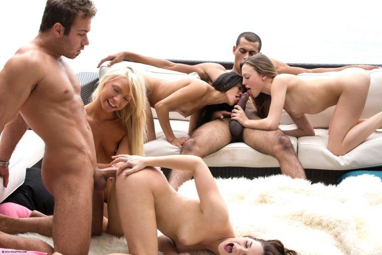 Colette Presents Veronica Rodriguez, Jenna J Ross & Aubrey Star in Outdoor Orgy 3