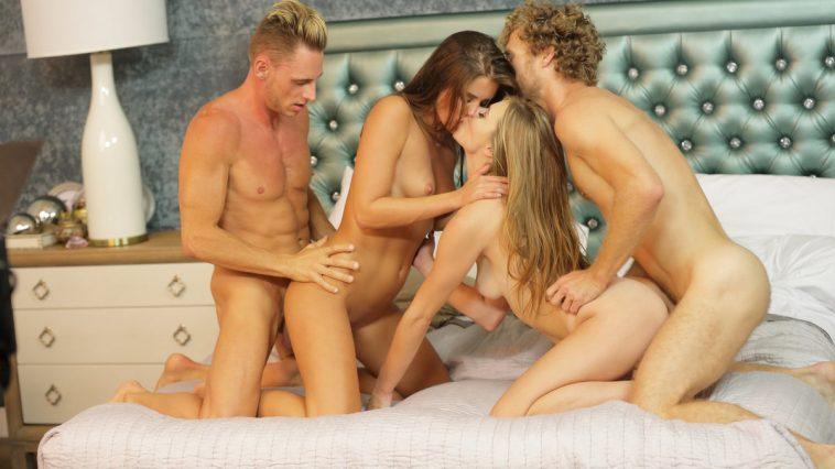 X-Art Caprice & Anya in Caprice Swaps Cocks with Marcello & Michael Vegas 4
